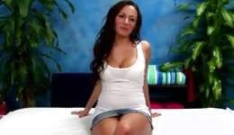 Brunette fiance stripped her being to get her oily elastic being massaged
