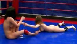 Watch two rutting goddesses having snuggling on the boxing ring