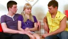 Two wishing guys invited gyno doctor to make sure this little chick is ok